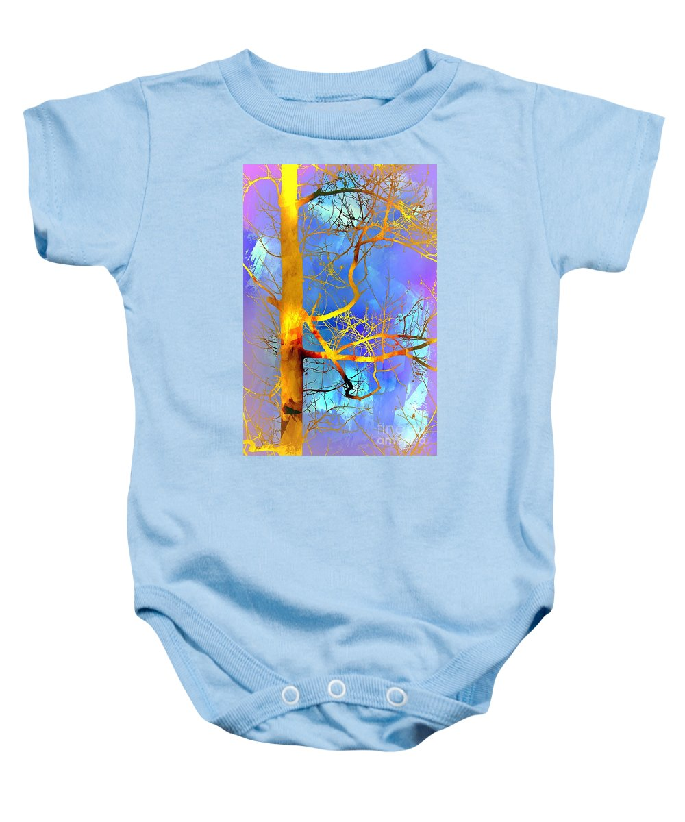 Branches Baby Onesie featuring the photograph Illumination by Judi Bagwell