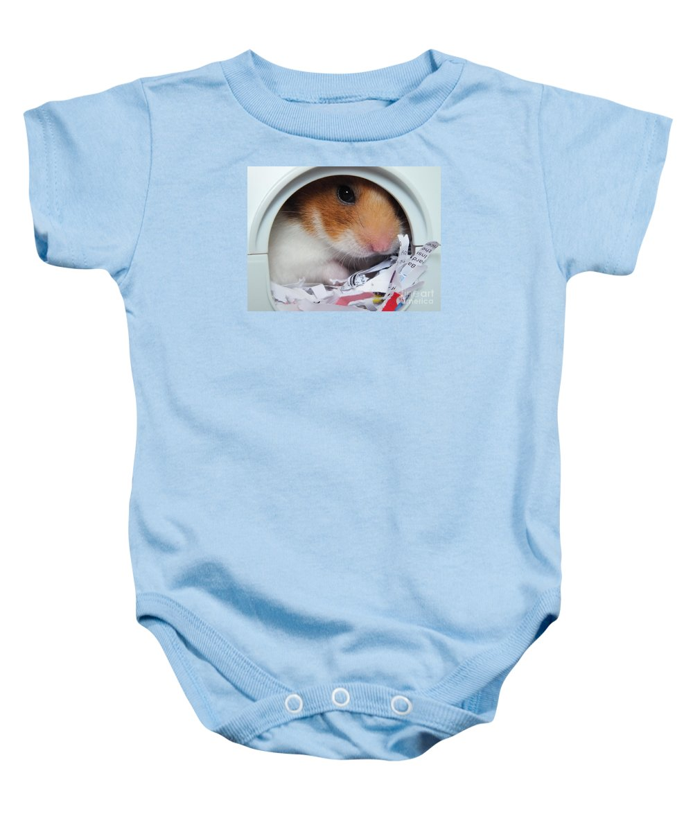 Timmy Baby Onesie featuring the photograph I'm Keeping My Eye On You by Vicki Spindler