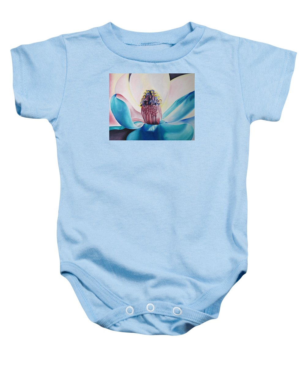 Flower Baby Onesie featuring the painting Imogen Flower by Joshua Morton