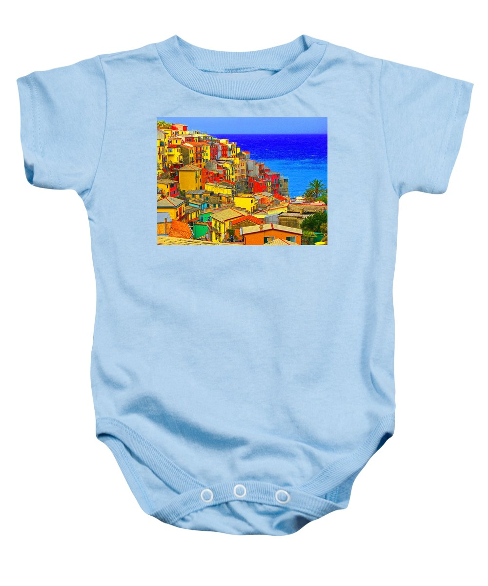 Baby Onesie featuring the digital art Impressionistic Photo Paint Gs 008 by Catf