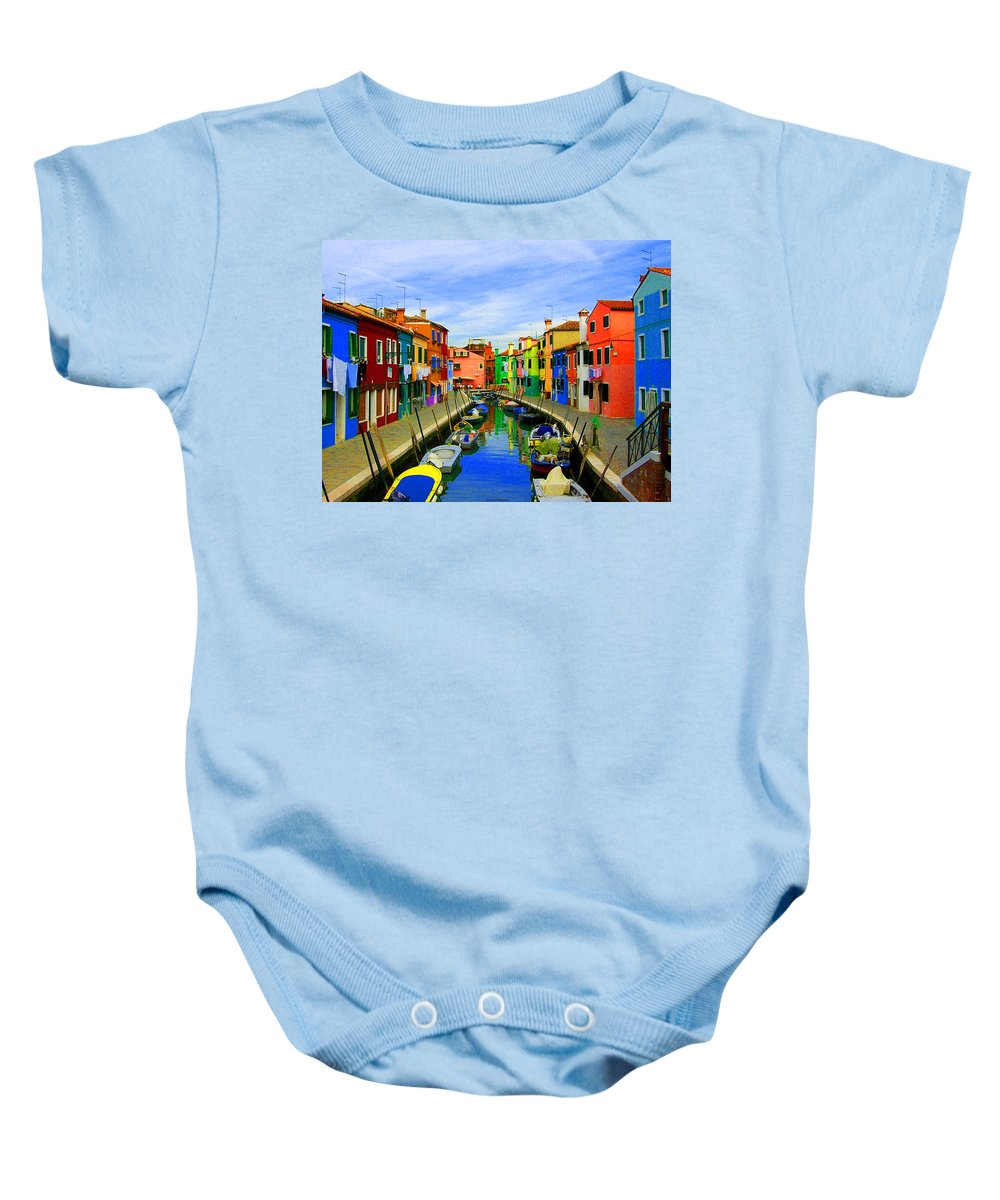 Impressionism Baby Onesie featuring the digital art Impressionistic Photo Paint Gs 013 by Catf