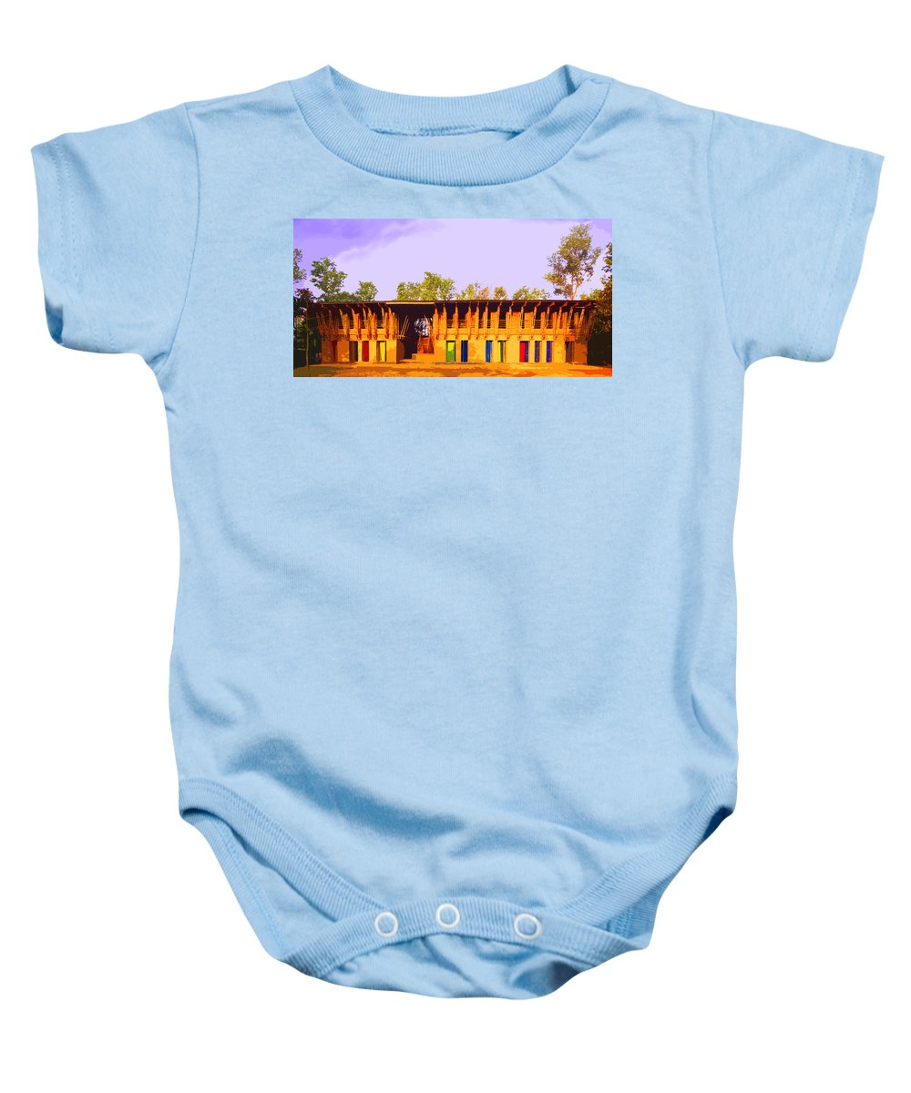 Baby Onesie featuring the digital art Impressionistic Photo Paint Ls 025 by Catf