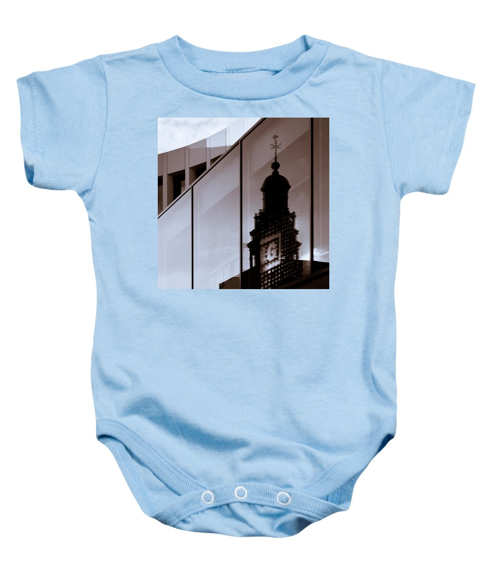 Maastricht Baby Onesie featuring the photograph Inner City by Dave Bowman