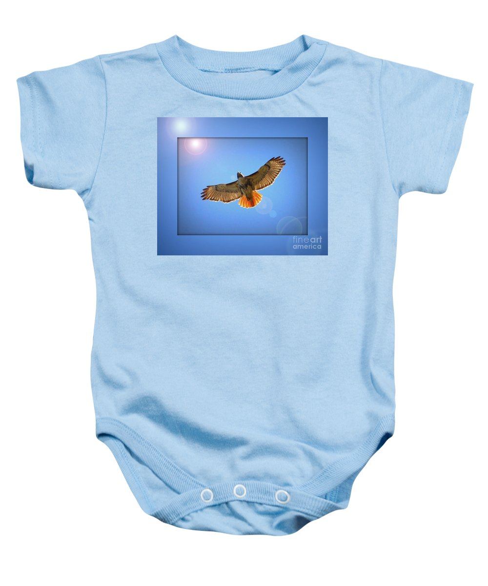 Digital Art Baby Onesie featuring the photograph Into The Light by Carol Groenen