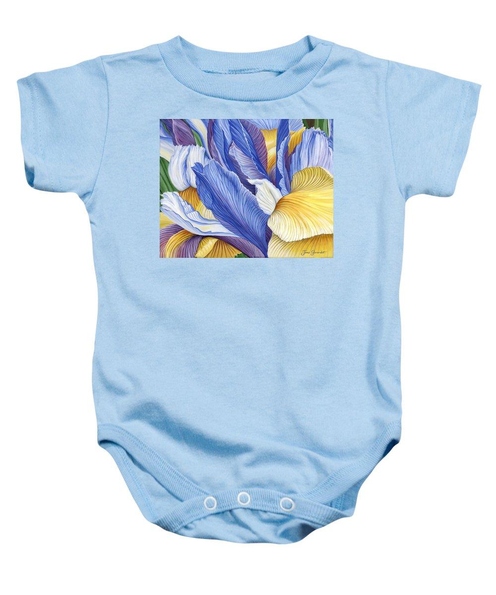 Iris Baby Onesie featuring the painting Iris by Jane Girardot