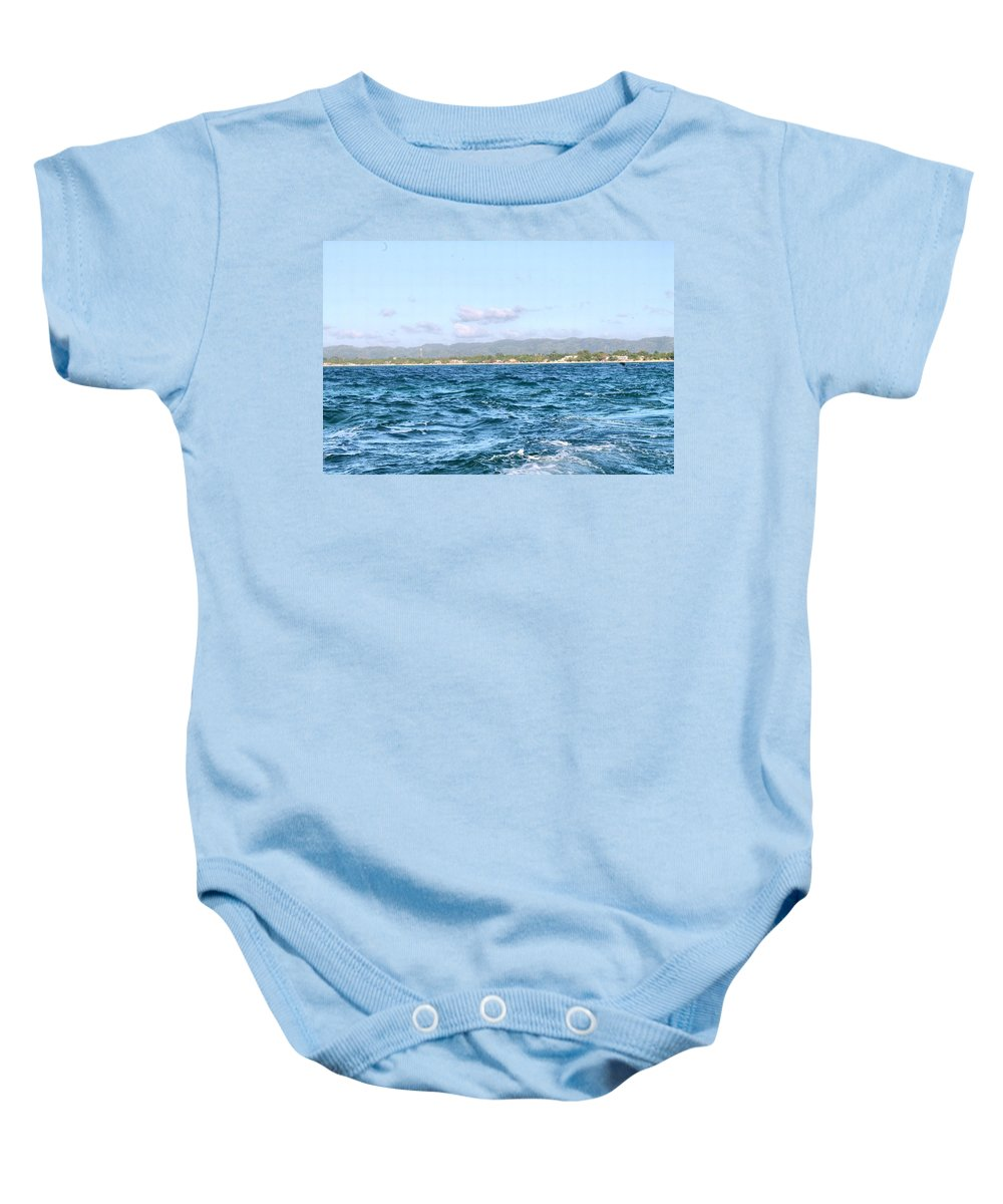 Jamaica Baby Onesie featuring the photograph Jamaica at a Distance by Debbie Levene