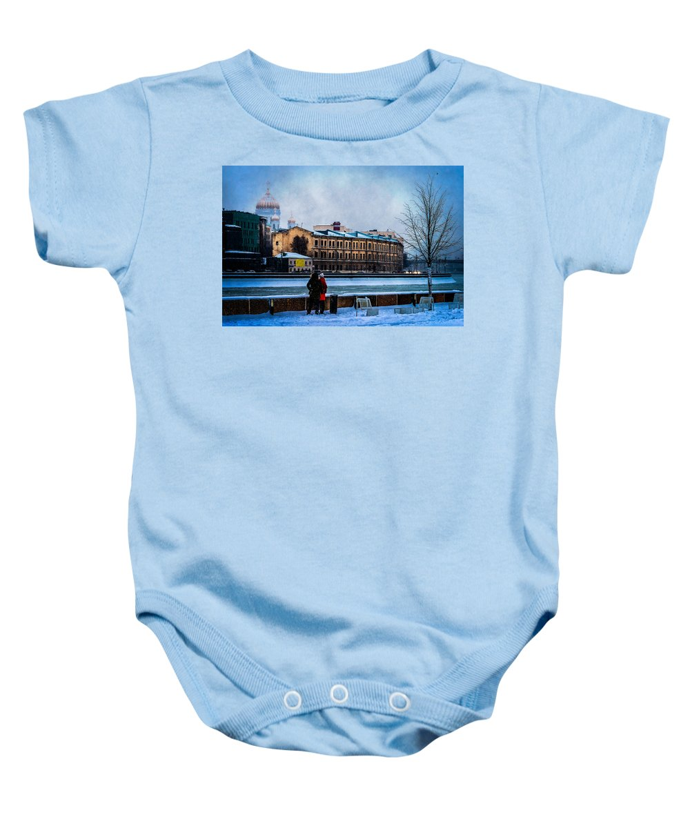 Moscow Baby Onesie featuring the photograph January Afternoon by Alexander Senin