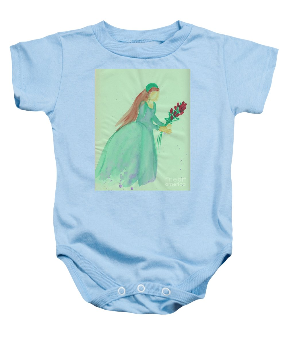Juliet Baby Onesie featuring the painting Juliet By Jrr by First Star Art