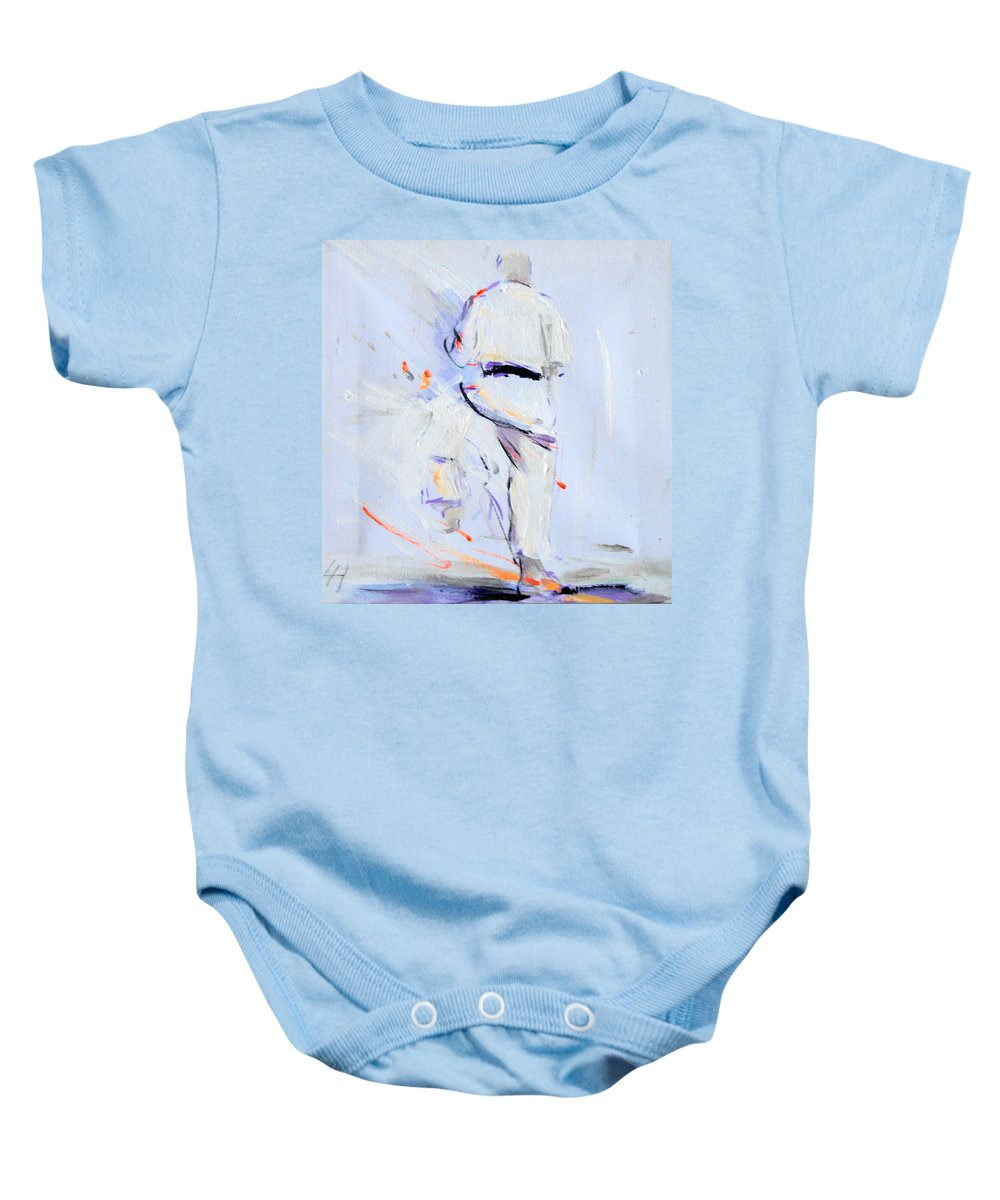 Karate Baby Onesie featuring the painting Kata Ni by Lucia Hoogervorst