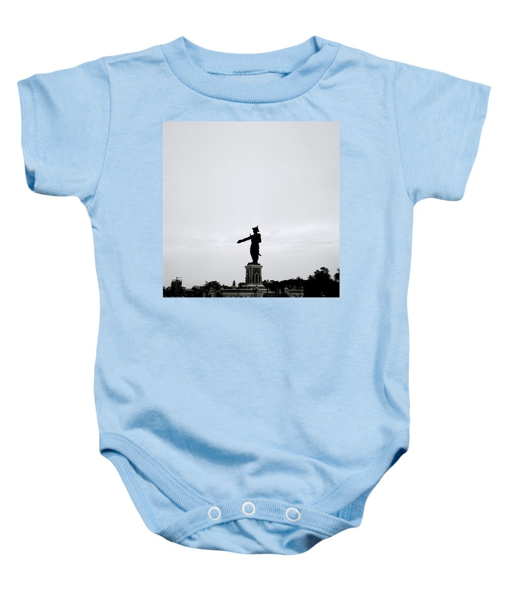 Asia Baby Onesie featuring the photograph King Fa Ngum by Shaun Higson