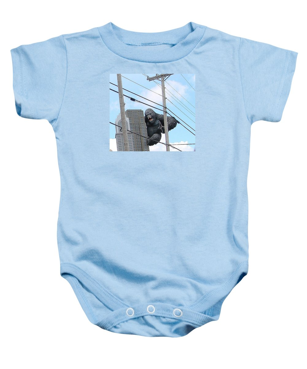 Gorillas Baby Onesie featuring the photograph King Kong by Mary Halpin