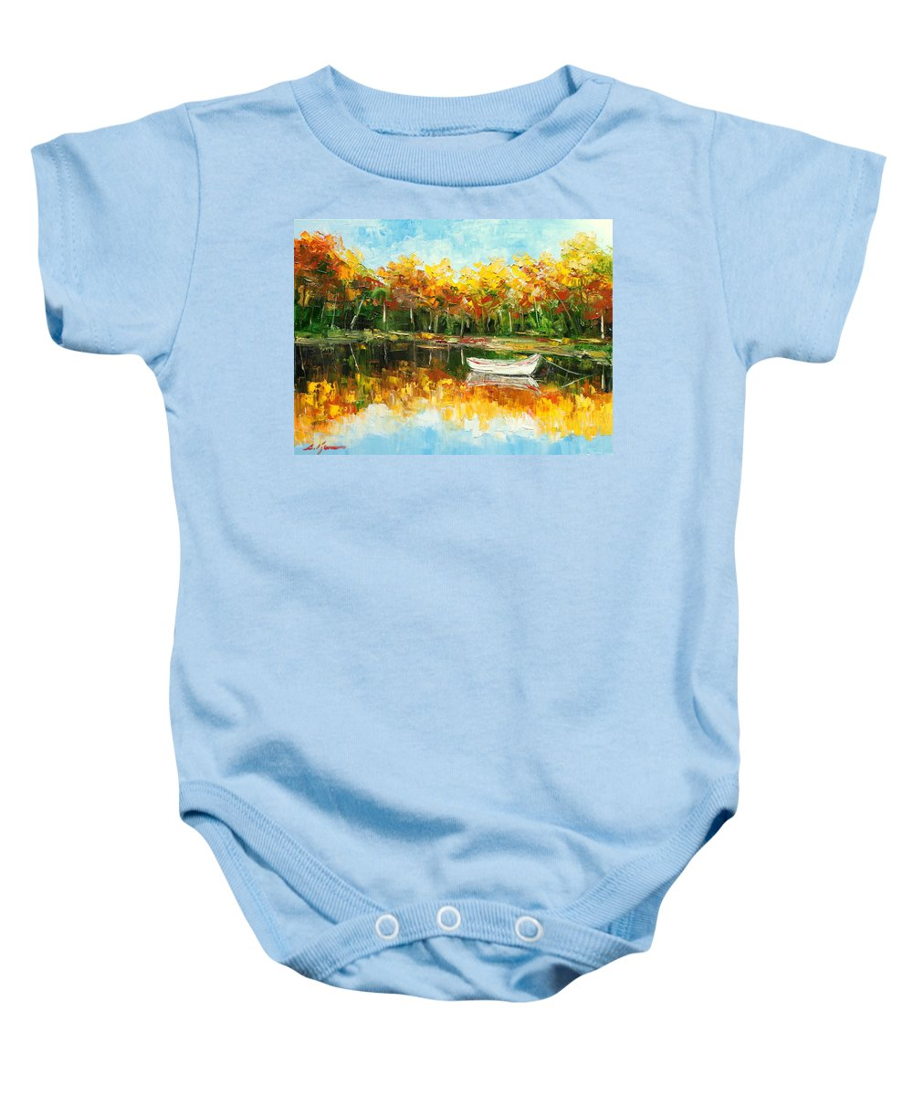 Lake Baby Onesie featuring the painting Lake Impression by Luke Karcz