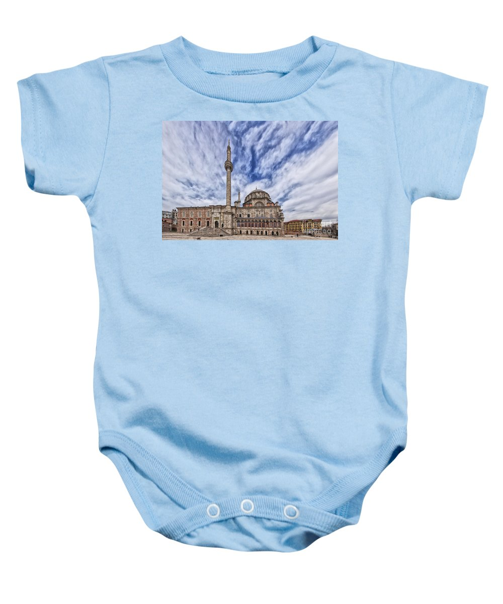 Middle East Baby Onesie featuring the photograph Laleli Tulip Mosque In Istanbul by Sophie McAulay