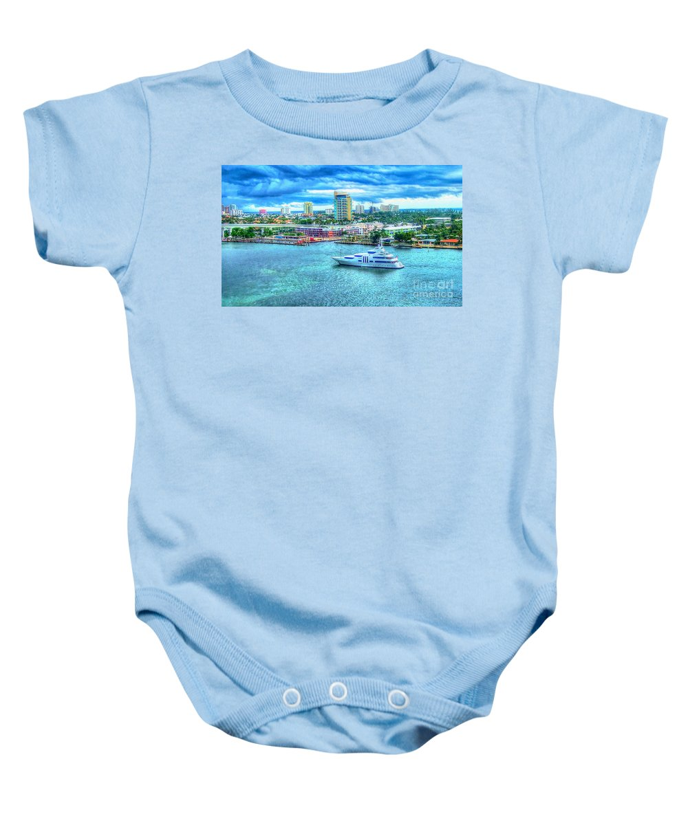 Ft. Lauderdale Baby Onesie featuring the photograph Lauderdale by Debbi Granruth