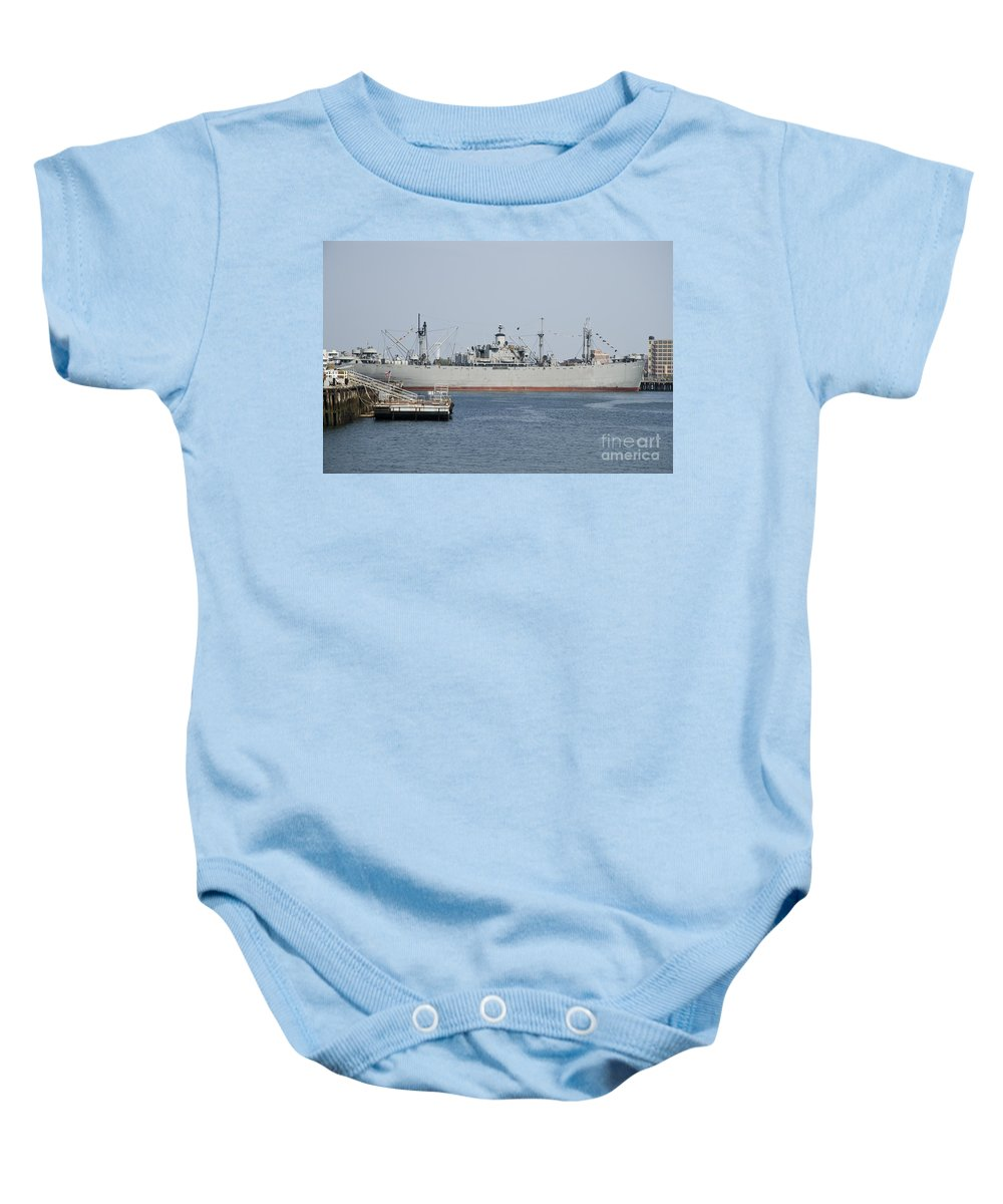 Liberty Ship Baby Onesie featuring the photograph Liberty Ship Ss John W. Brown by Tim Mulina