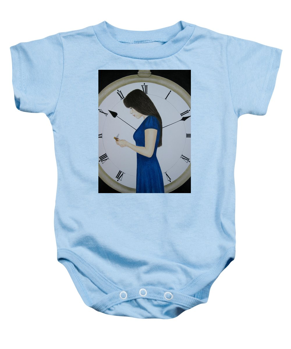 Life Baby Onesie featuring the painting Life by Lynet McDonald