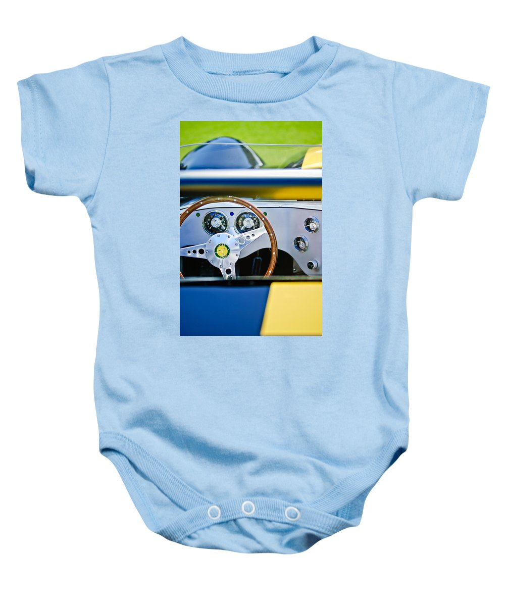 Lister Baby Onesie featuring the photograph Lister Steering Wheel by Jill Reger