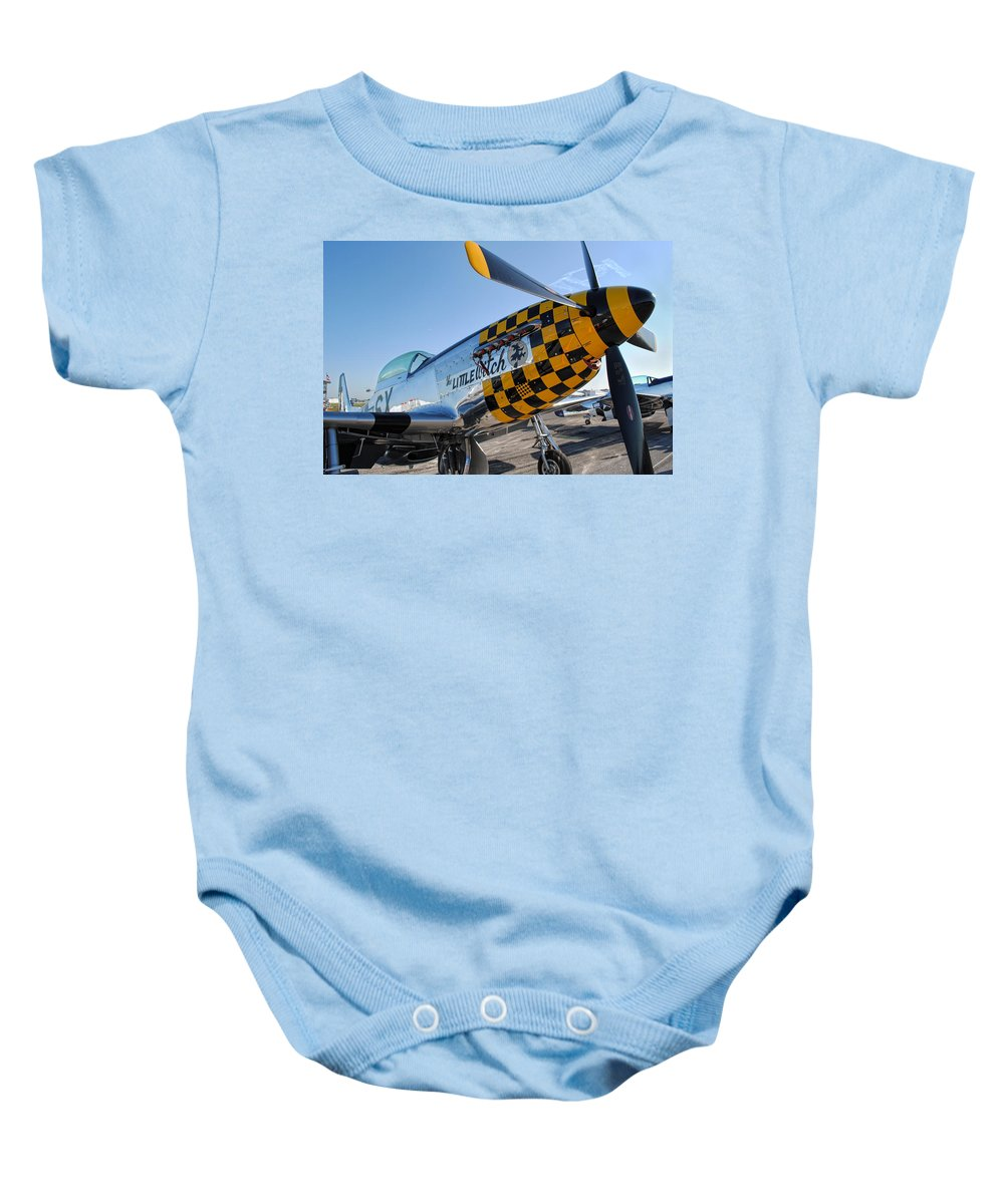 P-51 Baby Onesie featuring the photograph Little Witch by David Hart