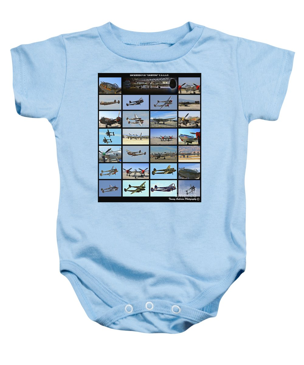 Lockheed P-38 Lighting Baby Onesie featuring the photograph Lockheed P-38 Poster by Tommy Anderson