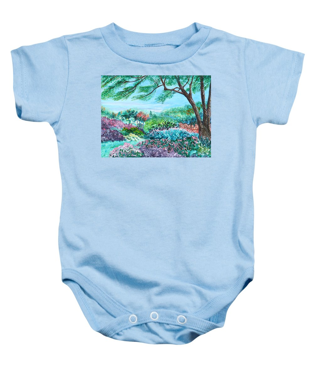 Longwood Baby Onesie featuring the painting Longwood Gardens by Aine Khell