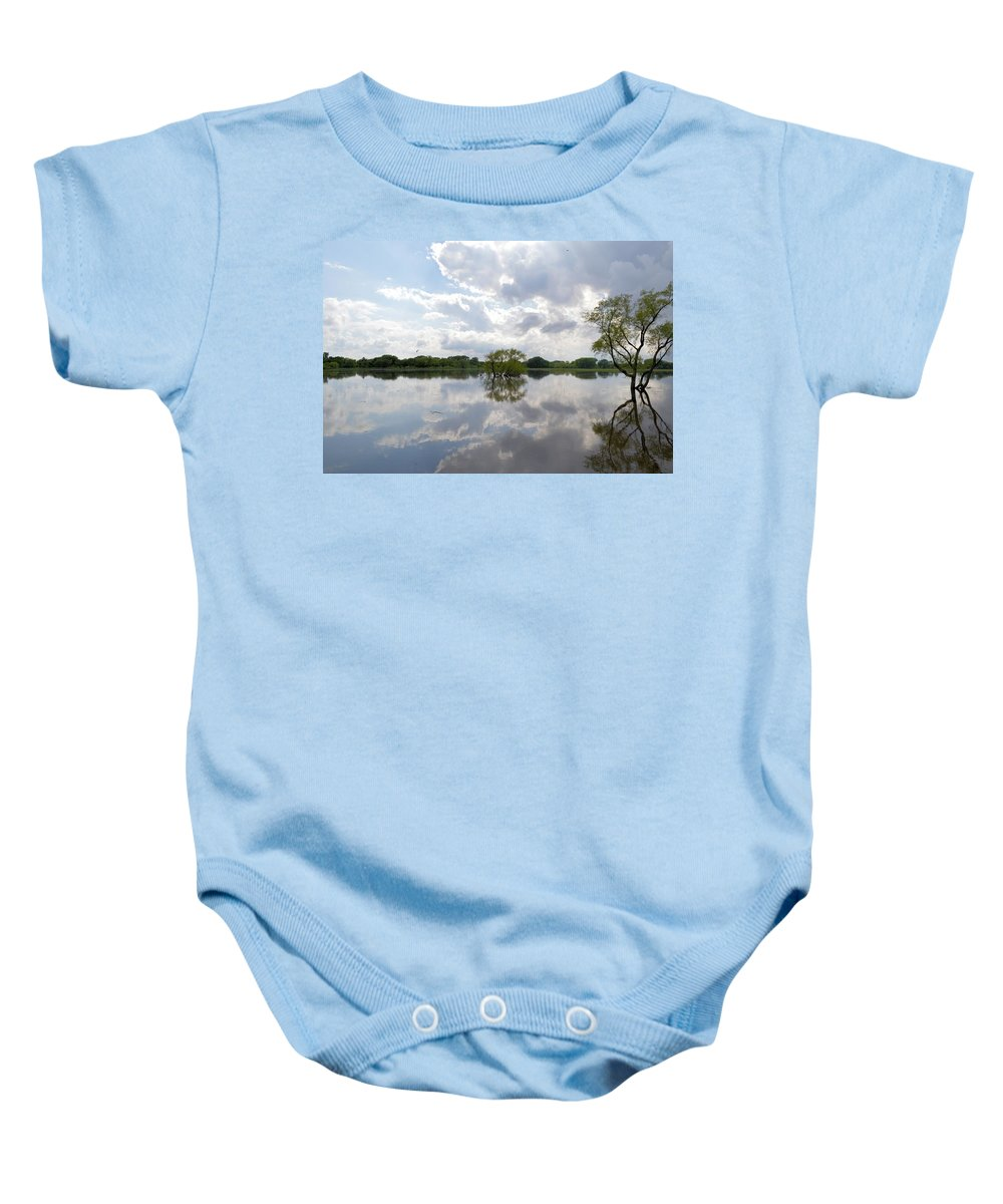 Glass Baby Onesie featuring the photograph Looking Glass by Bonfire Photography