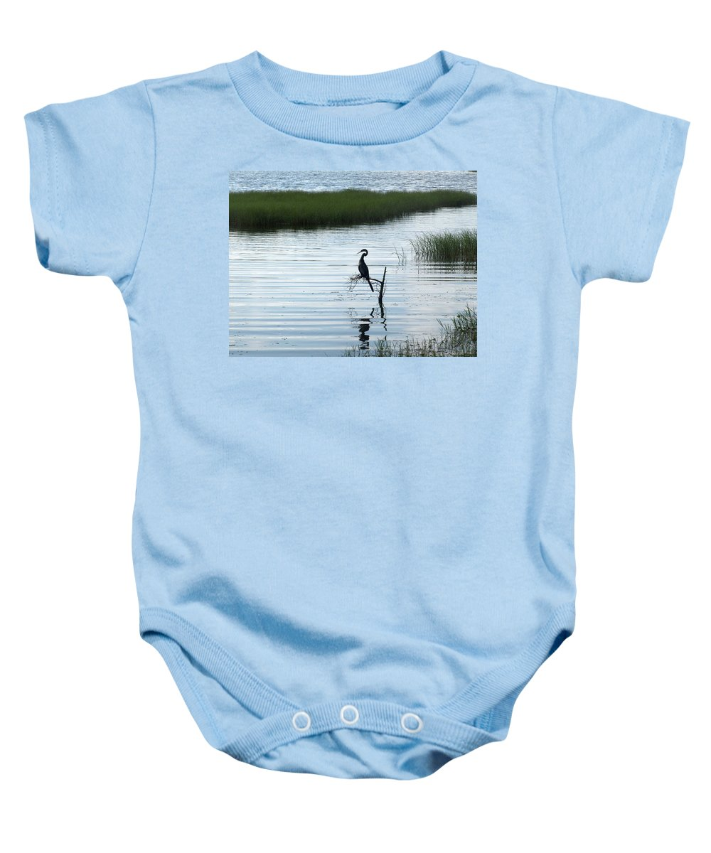 Lookout Baby Onesie featuring the photograph Lookout by Jo Jurkiewicz
