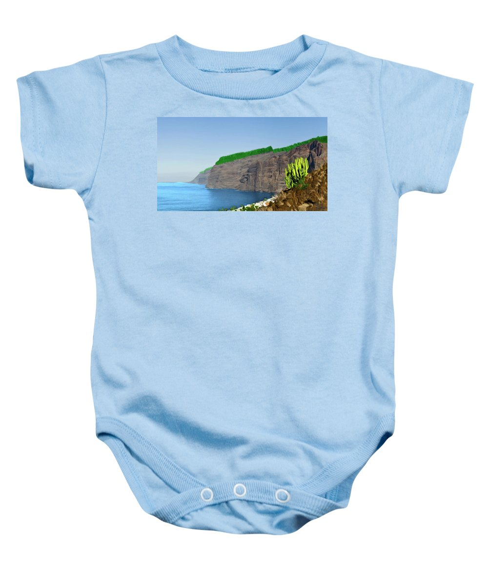 Spain Baby Onesie featuring the painting Los Gigantes Tenerife Spain by Bruce Nutting
