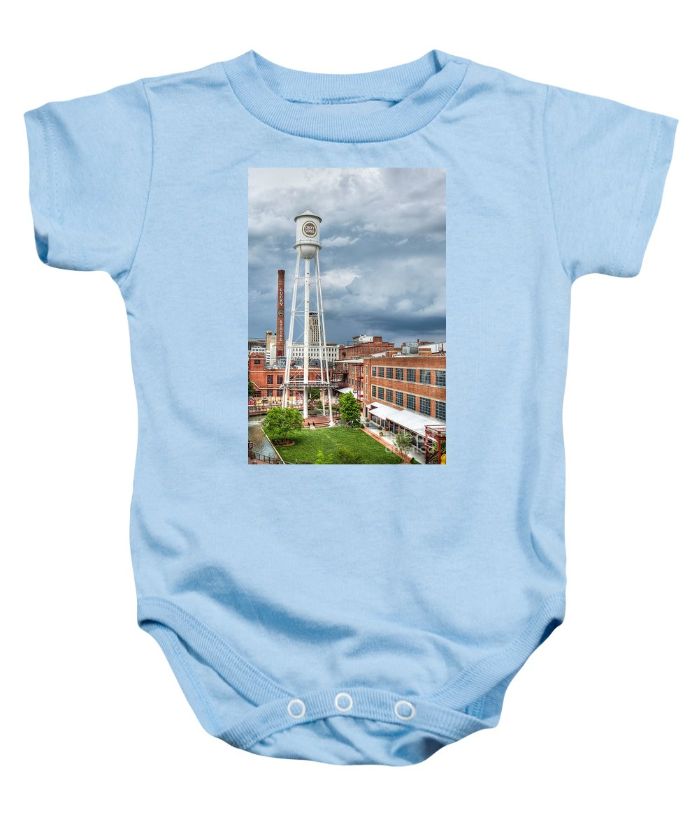 Durham Baby Onesie featuring the photograph Lucky Strike by Emily Kay