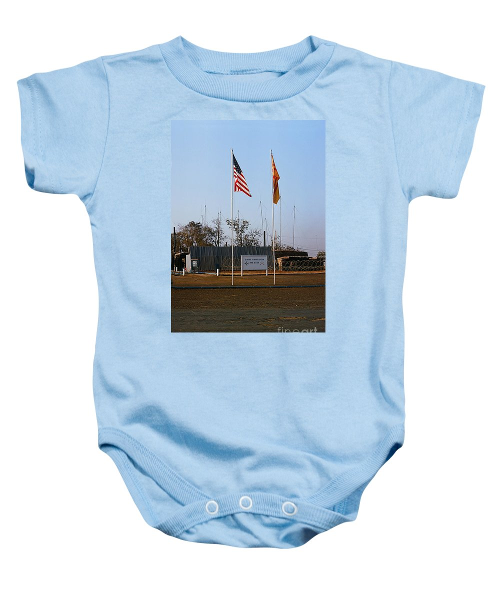 Lz Oasis Baby Onesie featuring the photograph Lz Oasis 3d Brigade None Better Headquarters 4th Infantry Division Vietnam 1969 by California Views Mr Pat Hathaway Archives