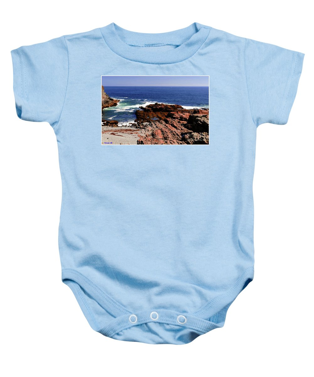 Atlantic Baby Onesie featuring the photograph Maine Seascape by Kathleen Struckle