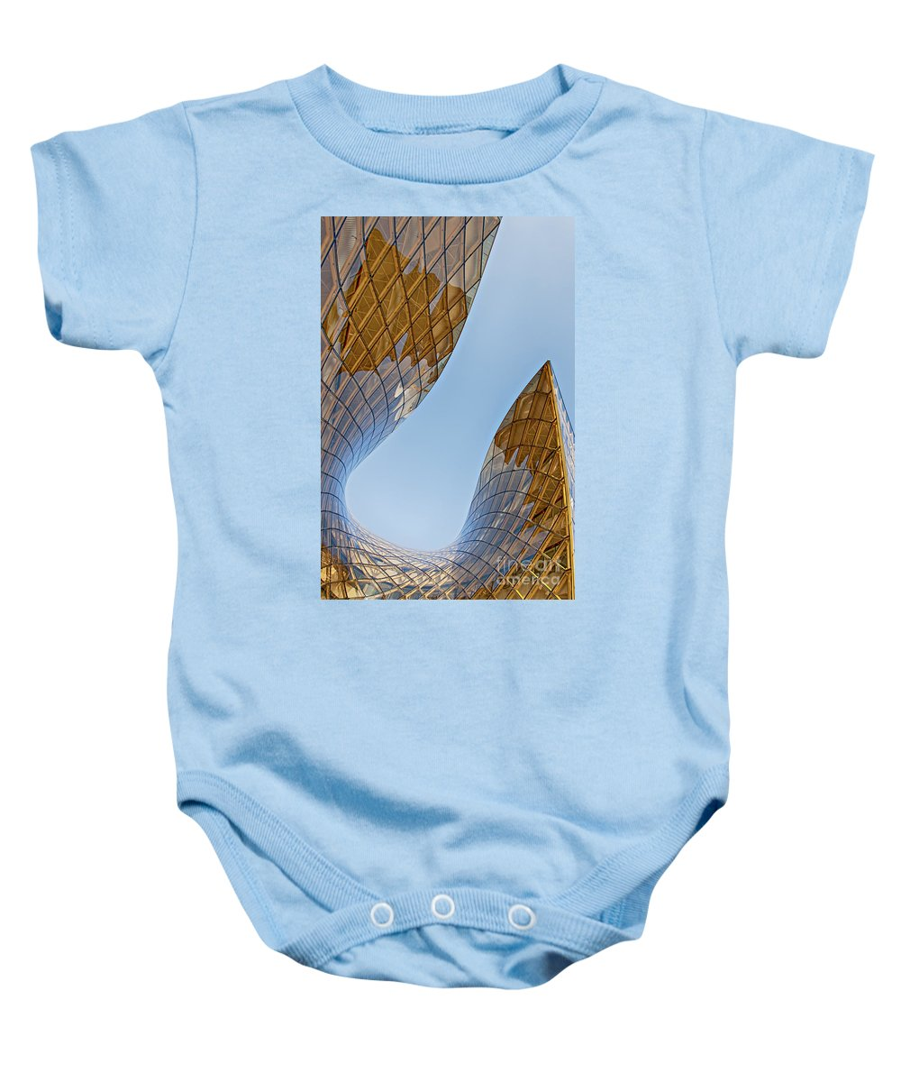 Malmo Baby Onesie featuring the photograph Malmo Emporia by Antony McAulay