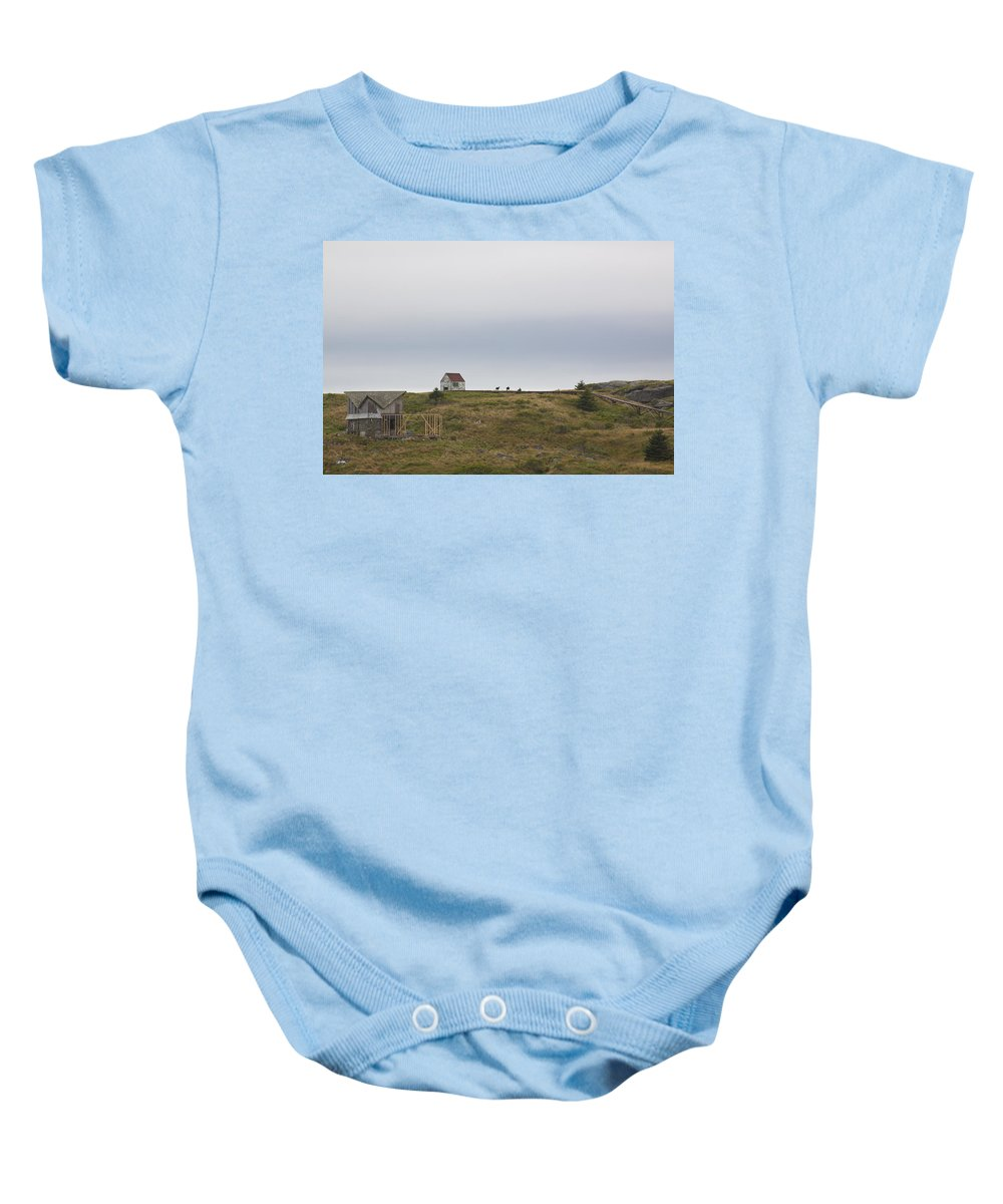 Goats Baby Onesie featuring the photograph Manana Goats by Jean Macaluso