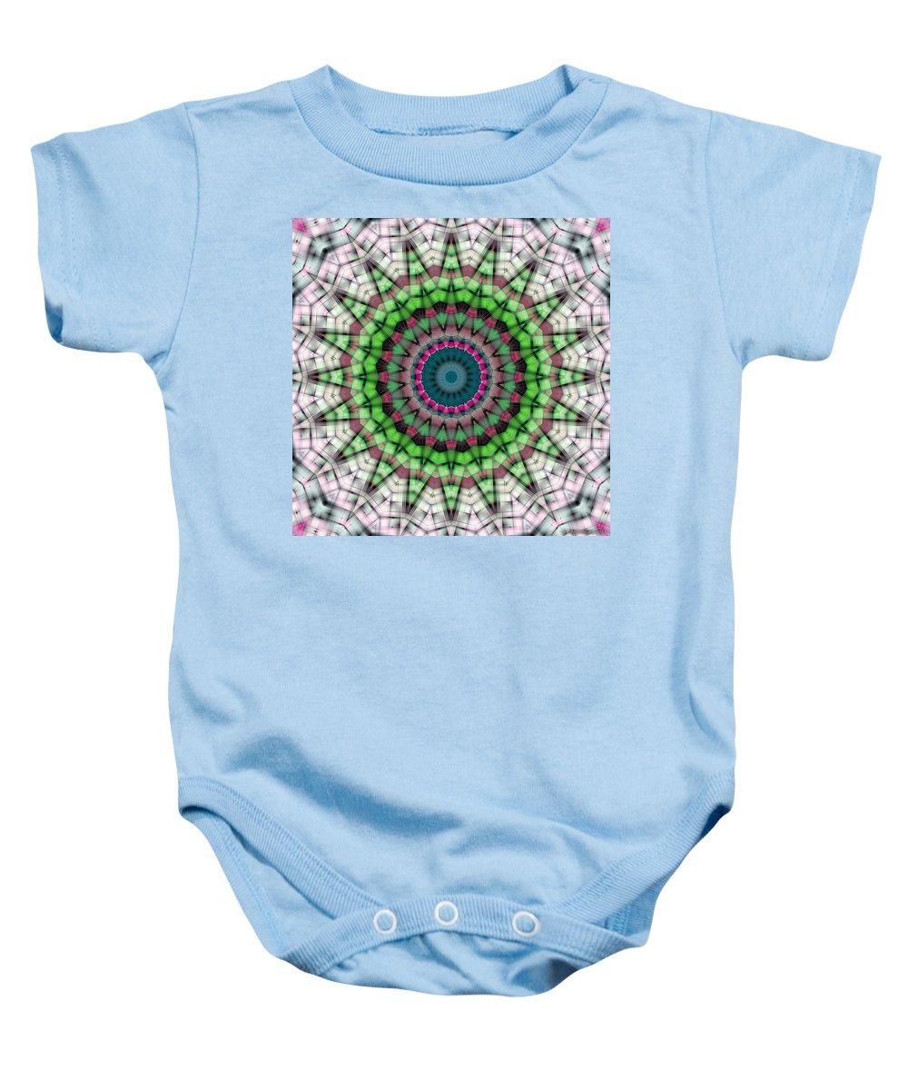 Relaxing Pattern Baby Onesie featuring the digital art Mandala 26 by Terry Reynoldson