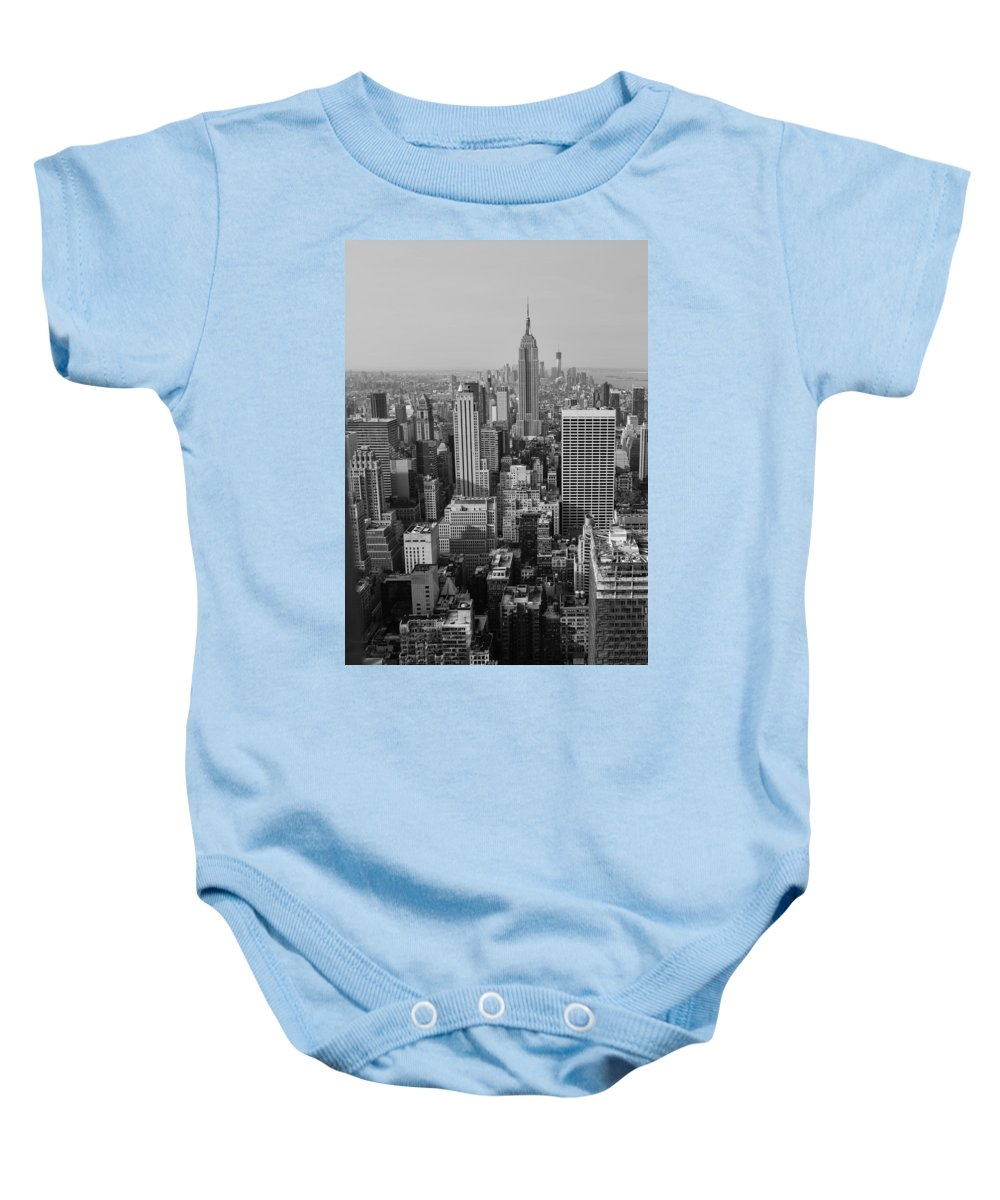 Nyc Baby Onesie featuring the photograph Manhattan Nyc by Patrick Warneka