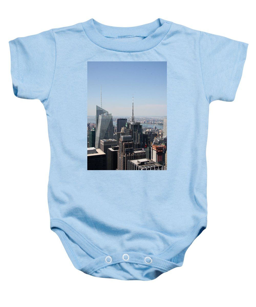 Construction Site Baby Onesie featuring the photograph Manhattan View 2012 by Christiane Schulze Art And Photography