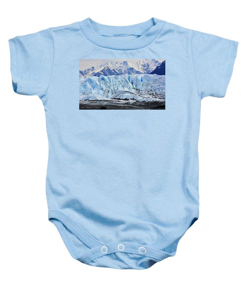 Alaska Baby Onesie featuring the photograph Matanuska Glacier by Andrew Matwijec