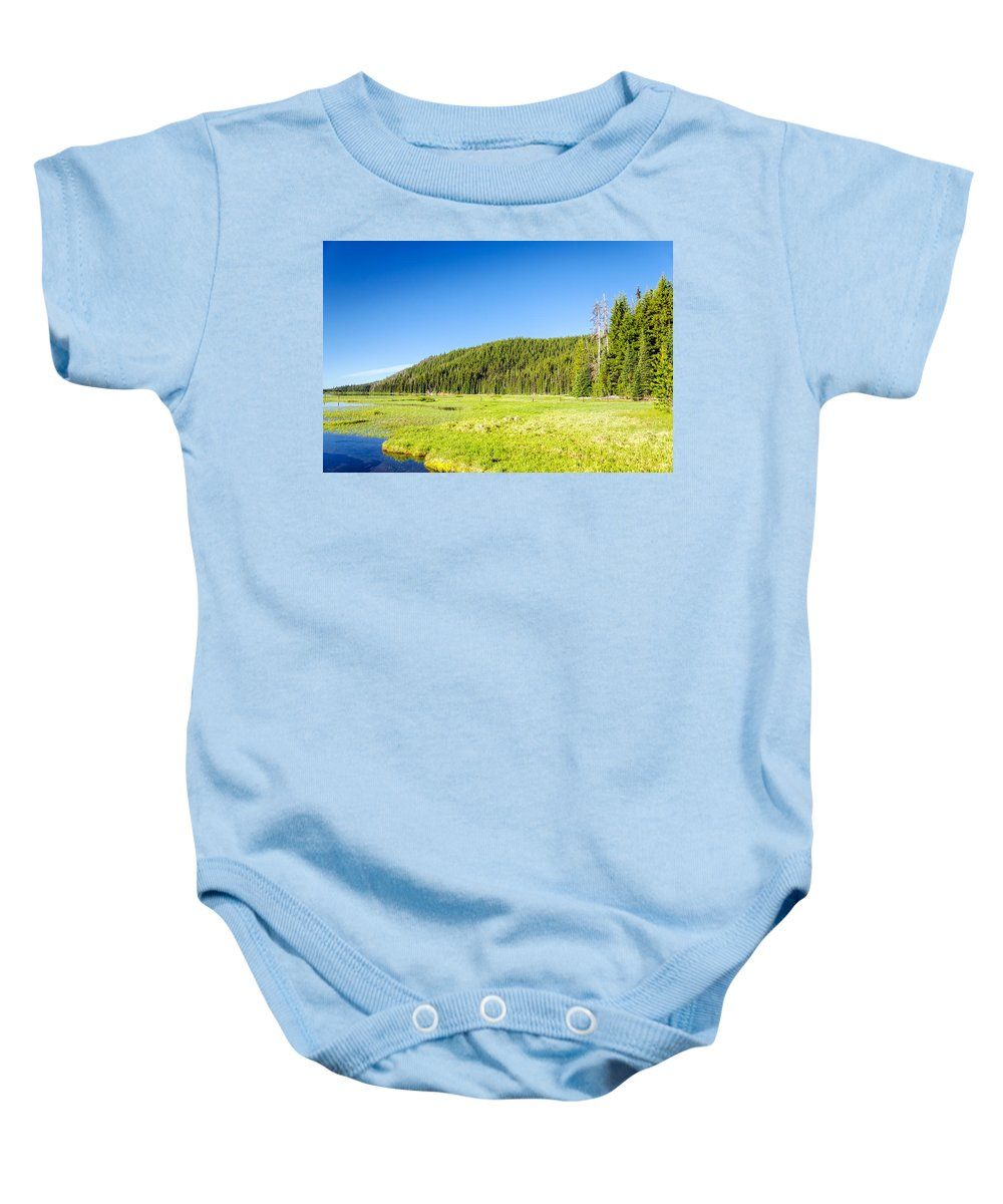 Forest Baby Onesie featuring the photograph Meadow And Forest by Jess Kraft