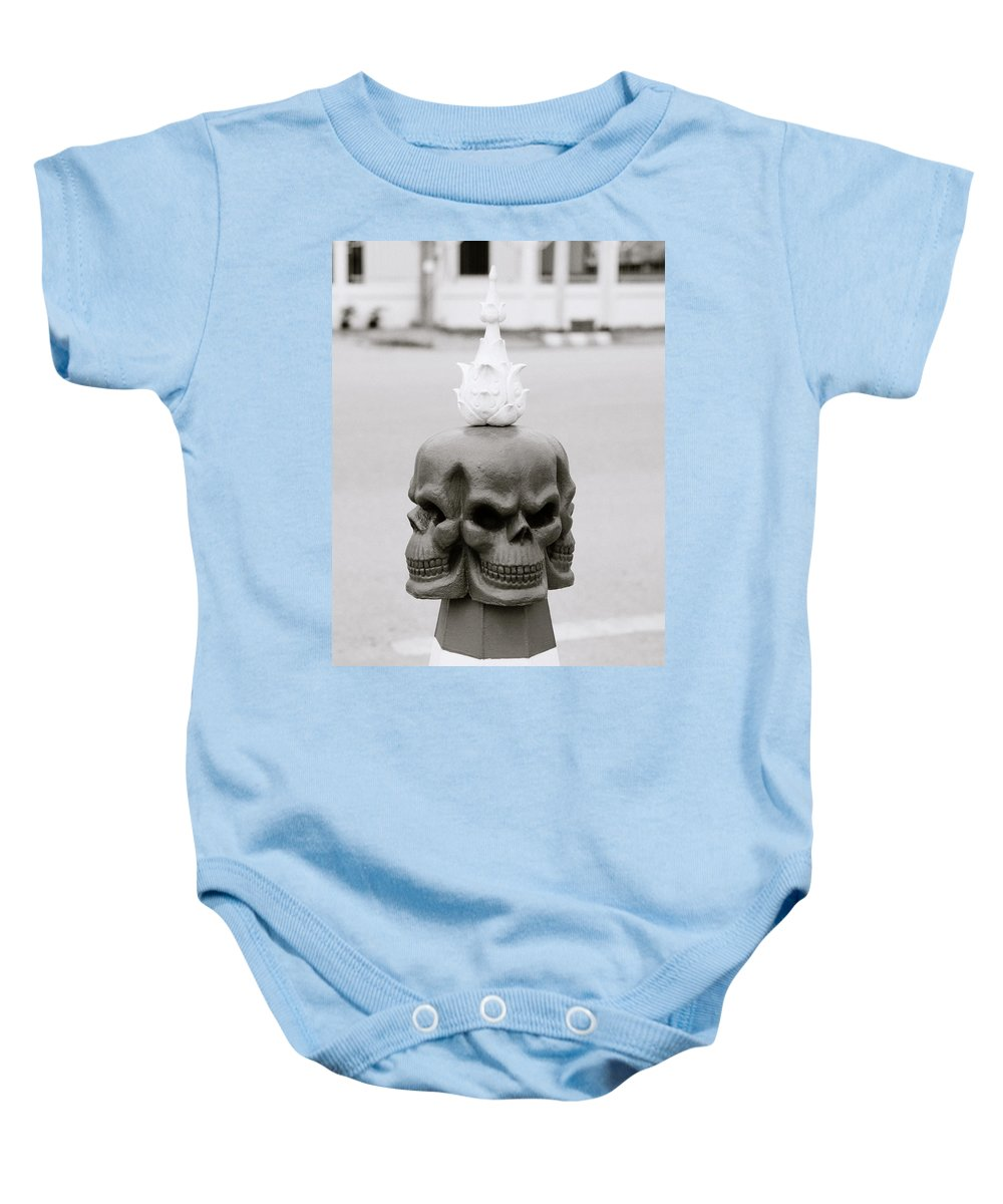 Wat Baby Onesie featuring the photograph Menace by Shaun Higson