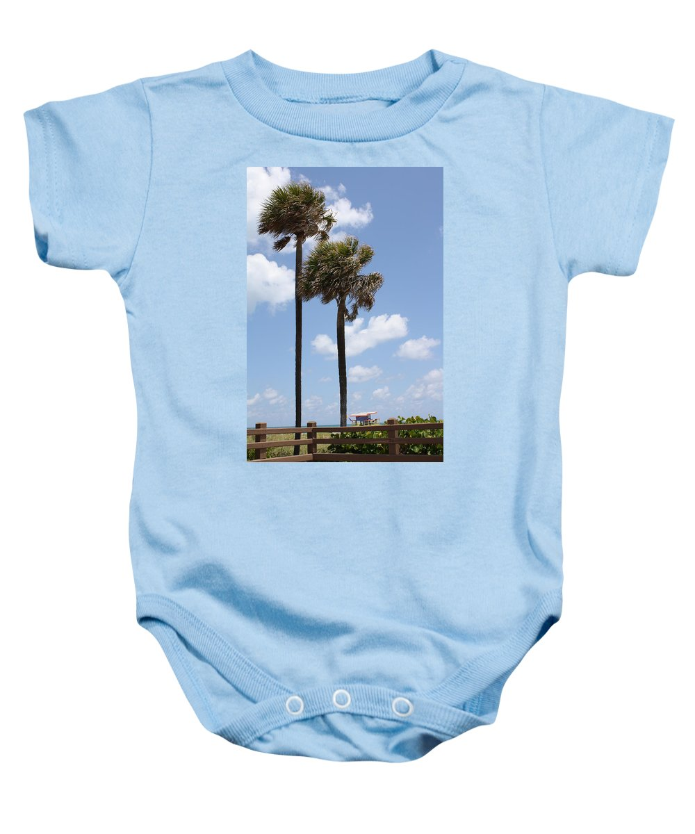 Florida Baby Onesie featuring the photograph Miami Beach by Dora Sofia Caputo Photographic Design and Fine Art