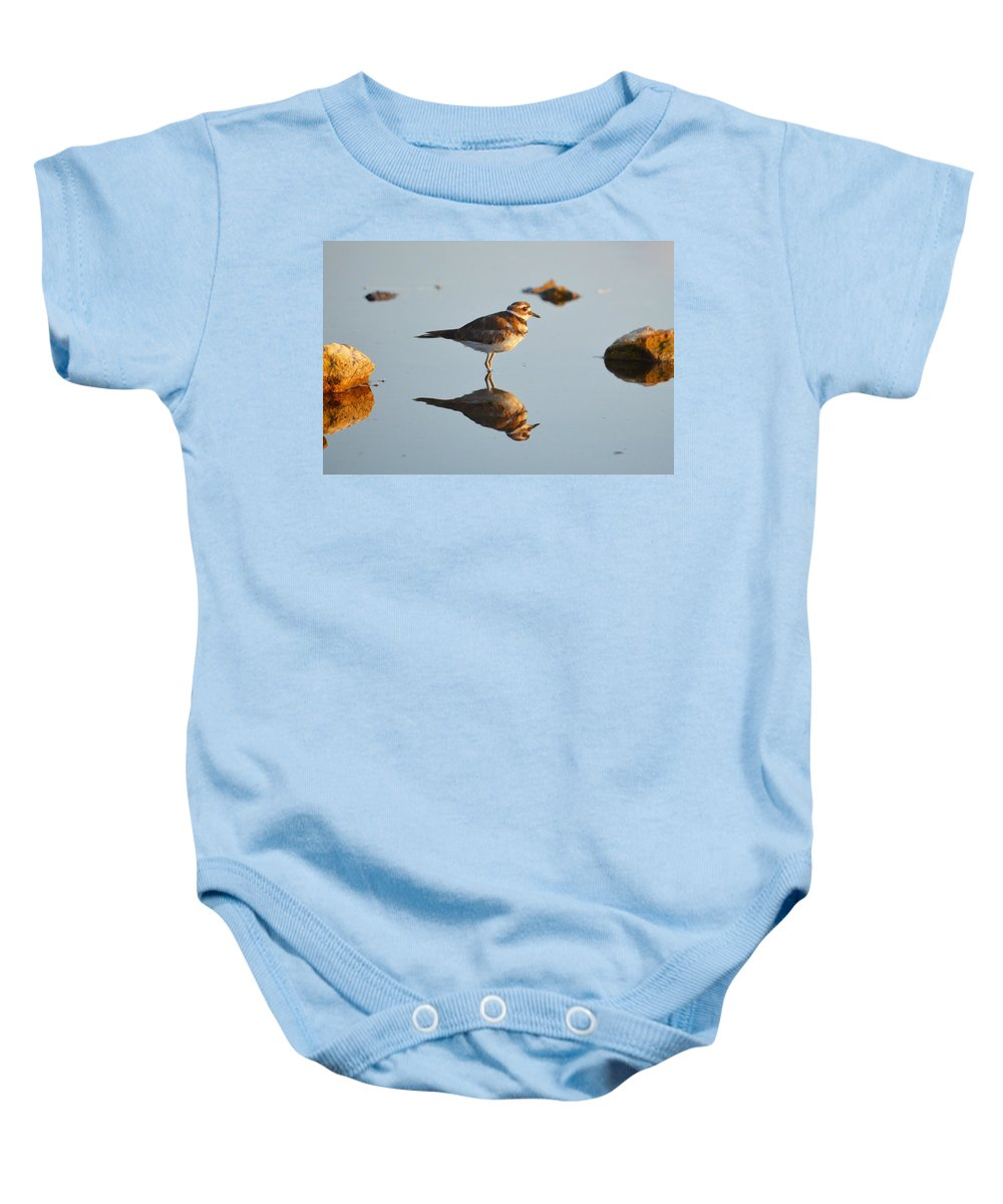 Baby Onesie featuring the photograph Mirror Image by Kim Blaylock