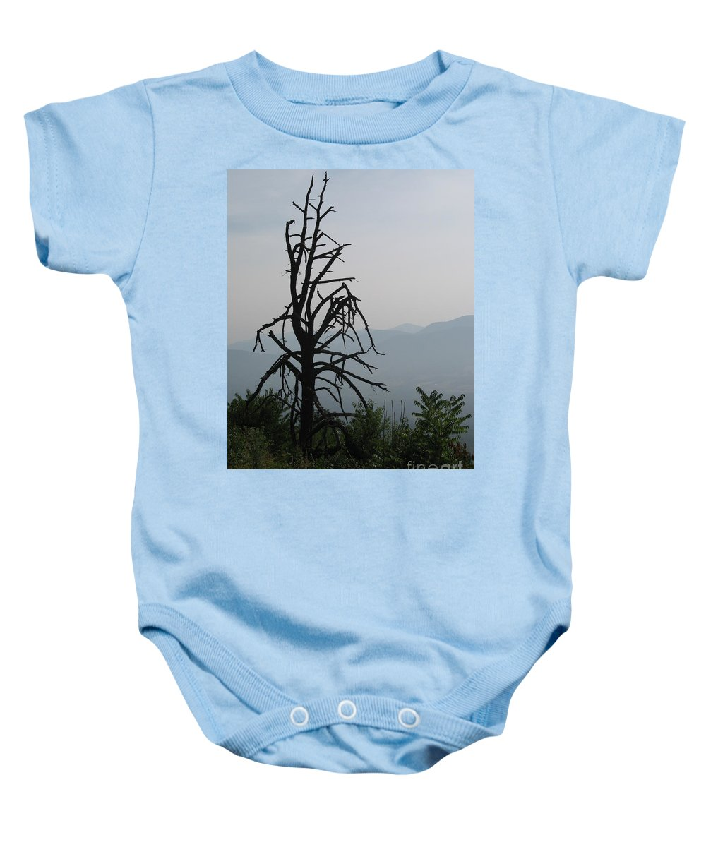 Mist Baby Onesie featuring the photograph Misty Morning by Christiane Schulze Art And Photography