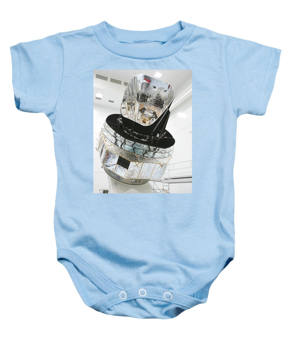 Science Baby Onesie featuring the photograph Model Of Planck Space Observatory by Science Source