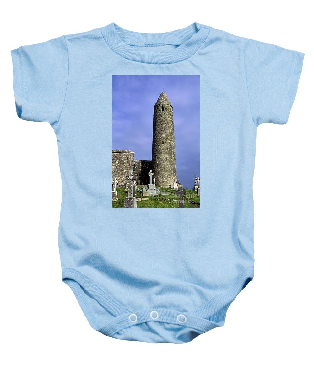 Europe Baby Onesie featuring the photograph Monastic Round Tower by John Greim