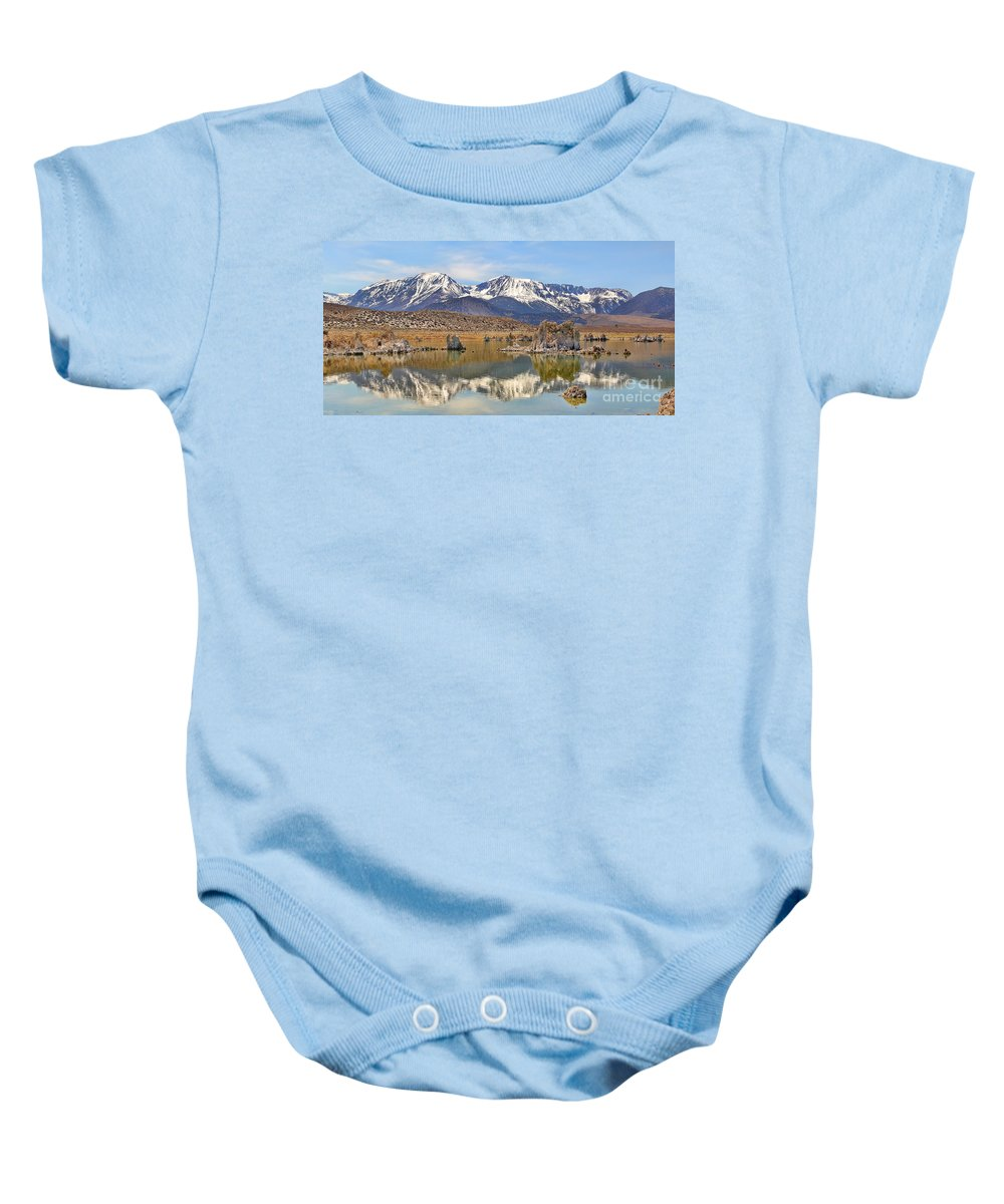 Mono Lake Baby Onesie featuring the photograph Mono Lake Reflections by Jack Schultz
