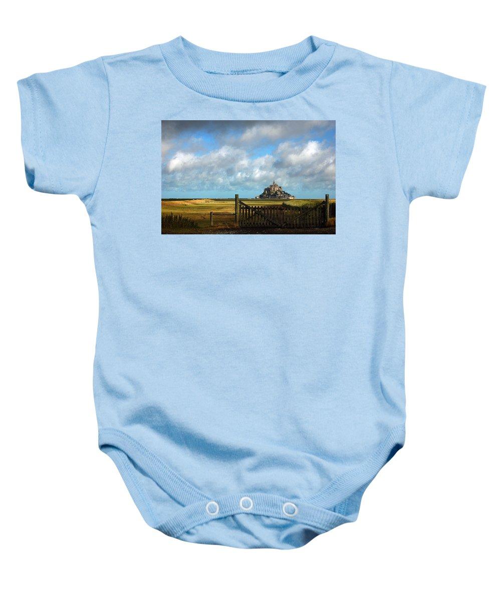 Mont Saint-michel Baby Onesie featuring the photograph Mont Saint-michel by RicardMN Photography