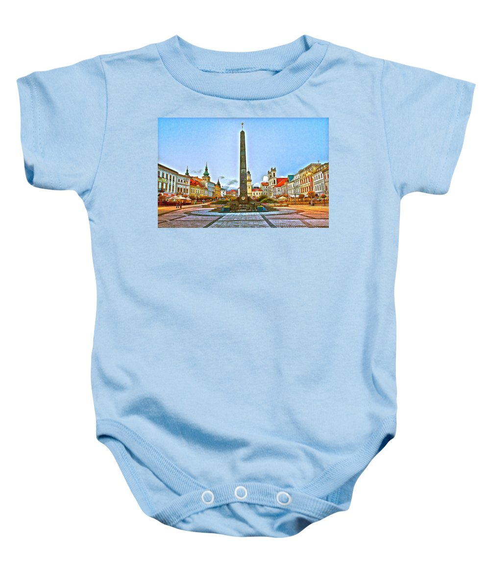 Slovakia Baby Onesie featuring the photograph Monument In B.bystrica by Alex Art and Photo
