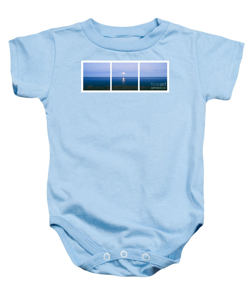 Ocean Baby Onesie featuring the photograph Moonrise by Sabine Jacobs