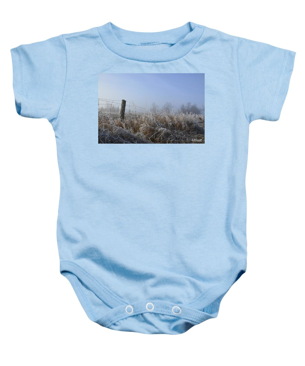 Mist Baby Onesie featuring the photograph Morning Mist by Urbanmoon Photography