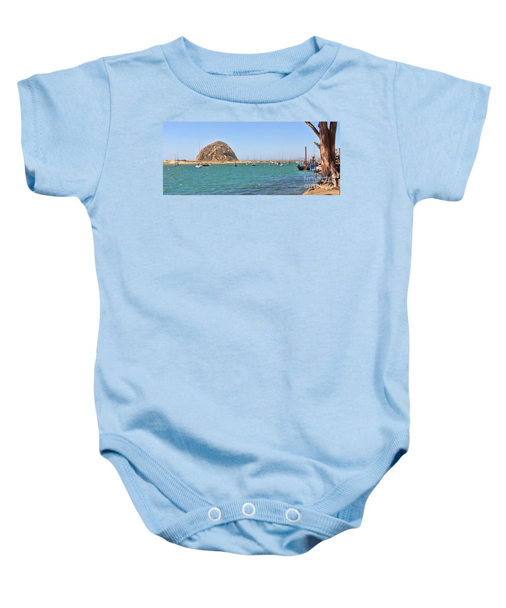Morro Bay Baby Onesie featuring the photograph Morro Bay 6968 by Jack Schultz