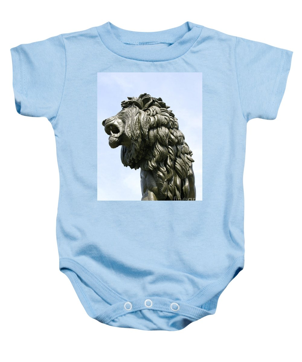 Statue Baby Onesie featuring the photograph Mostly Mane by Ann Horn